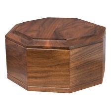 Wood Cremation Urn (Wooden Urns) - Walnut Octagon