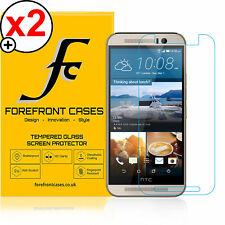 2 X 9H HD Tempered Glass Screen Protector Shield for HTC One M9