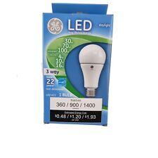 New GE LED Daylight 3-WAY A21 standard light bulb 30/70/100w 360/900/1400 lumens