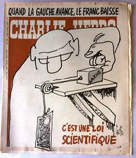 """Charlie Hebdo N°378 du 9/02/1978; """" Quand la Gauche avance...."""" Gébé"""