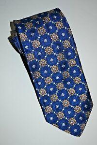 New $175 Robert Talbott Best Of Class Royal w/Gold Multi Medallion Silk Tie