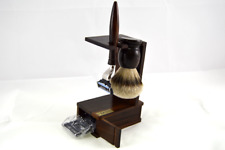 Shaving Set Rosewood Brush Badger Hair Silvertip Shaver Dr.Dittmar Germany
