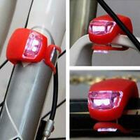 1PC Silicone Bicycle Bike Cycle Safety LED Head Front Rear Tail Light HOT Gift