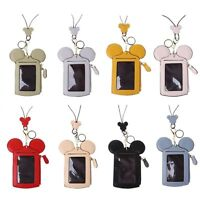 Cute Animal Shape Card Holder Money Wallet Purse Neck Lanyard Bag For Women Lady
