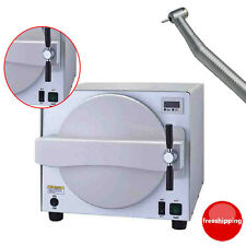 18L Autoclave Medical Steam Sterilizer Dental lab Machine Pressure+4H Handpiece