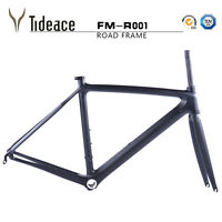 T800 OEM Full Carbon Fiber Road Bike Frames 50cm Bicycle Frameset BSA Matte