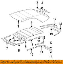 MERCEDES OEM 94-95 E320 Roof Back Glass-Inner Liner 1247700280