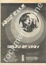 John Cale Helen Of Troy Nasty Pop Exeter University MM5 LP/Tour Advert 1975