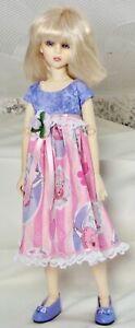 "Handmade Summer dress for slim MSDs, Ellowyne, 14"" Kish & similar size dolls"