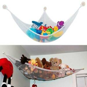 1x Toy Hammock Wall Hanging Storage Net Stuffed Animals Toys Doll Kids Organizer