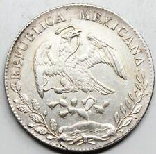 MEXICO 1893 MoAM 8 REALES MONEDA PLATA MBC+