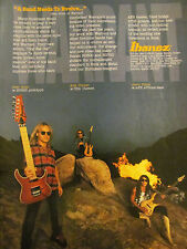 Warrant, Ibanez Guitars, Jerry Dixon, Erik Turner, Full Page Promotional Ad