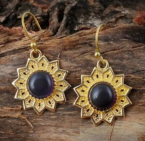 Twilight Sun Brass Design with Black pearl Onyx