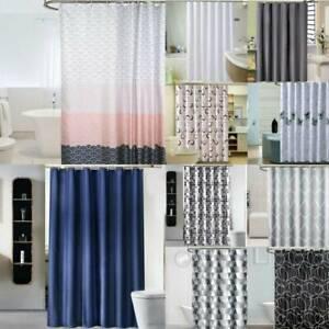 Geometric Shower Curtain Ring Hook Waterline Bathroom Home Decoration