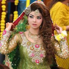 New Bridal/Wedding indian bollywood Heavy salwar kameez patiala suit/dress green