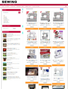 SEWING WEBSITE BUSINESS - 1 YEARS HOSTING - ECOMMERCE - EASY TO RUN