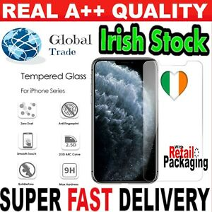 iPhone 12 11 X XS Genuine Glass Screen Protector Pro MAX Tempered 6 7 8 Plus SE