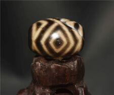 old tibetan necklace amulet agate dzi bead 3 eyes chung longevity real antique