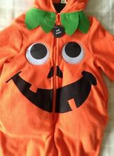 Halloween Pumpkin Padded Onesie ~ All In One Outfit/Fancy Dress Up/Costume 2-3yr