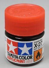 Tamiya X27 Clear Red Acrylic Paint Jar 81527 TAM81527