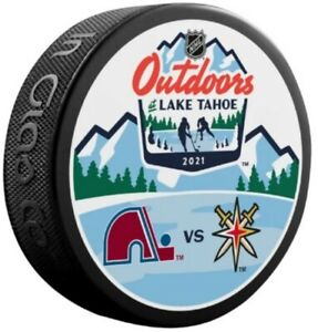 Vegas Golden Knights v Colorado Avalanche 2021 Lake Tahoe Stadium Series Puck