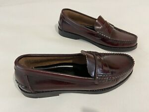 Mens GENTELMEN Patent Leather Burgundy Rubber Soled Penny Loafers Size UK6 EU40