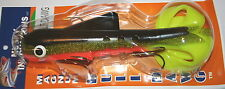 """13"""" Magnum Double Bull Dawg Musky Innovations LOTW Perch Pike Plastic Body"""