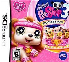 Littlest Pet Shop 3 Biggest Stars Pink Team GAME Nintendo DS DSI XL LITE 2 3 LPS