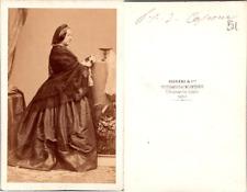 CDV Disdéri, Paris, Penelope Smyth, Princesse de Capoue, Bourbon-Siciles, circa