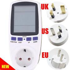 US/EU/AU/UK plug power energy meter wattmeter digital power socket  watt meter