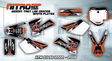KTM Graphics Kit Décalque DECOR DESIGN Stickers SX 50 2002 - 2008 02 - 08 Motocross