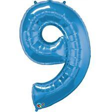Qualatex Giant Sapphire Blue Number 9 Foil Balloon