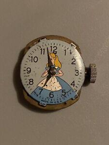 Vintage Child's Disney's Alice In Wonderland 1950's Watch Face