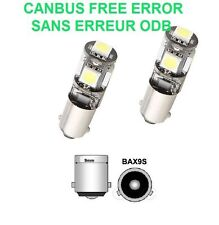 2 AMPOULES LED AUDI TT - TT ROADSTER BAX9S H6W 5 SMD CANBUS 12V