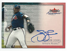 ANDRUW JONES 2000 FLEER AUTOGRAPHICS SIGNED CARD, CERTIFIED AUTHENTIC, MINT!