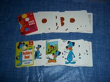 "Vintage 1967 Ed-U-Cards Mini Card Games Hanna Barbara ""Huckleberry Hound"""