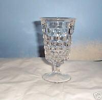 AMERICAN PATTERN FOSTORIA WATER GOBLET GLASS VINTAGE
