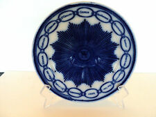 "ANTIQUE ENGLISH FLOW BLUE 9"" ""CHAIN OF STATES"" CABINET PLATE"