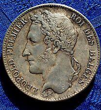 RARE MONNAIE DE 5F ECU LEOPOLD PREMIER ROI DES BELGES EN ARGENT  1835