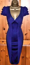 KAREN MILLEN STUNNING PURPLE COCKTAIL WIGGLE DRESS UK 10 OCCASION PARTY CRUISE