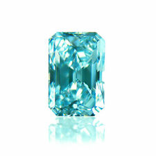 4.00CT (VVS1) BLUE LOOSE RADIANT CUT BRILLIANT  MOISSANITE FOR RING/PENDANT
