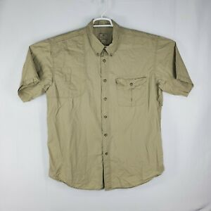 Beretta Mens Padded Shoulder Vented Embroidered Shooting Hunting Shirt Size XL