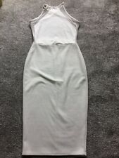 LOVELY MISSGUIDED WHITE STRETCH DRESS CROSS BACK SIZE 8 VGC