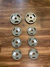 "25LB Adjustable Dumbbell Plates Two 5lb Plates Six 2.5lb Plates Brand New CAP 1"""