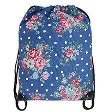 Cotton Canvas Waterproof Printed Drawstring Gym Work Backpack Rucksack (Flowe...