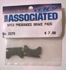 NEW Team Associated #2278 NTC3 Prebonded Brake Pads