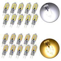 10PCS G4 Base SMD 2835 AC DC12V 3W 12LED Warm/Cool White Light Bi-Pin Lamp Bulb