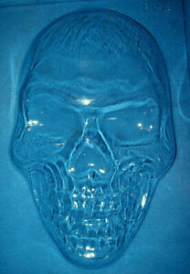 EXTRA LARGE SKULL SHAPE HALLOWEEN CHOCOLATE MOULD OR PLASTER MOULD