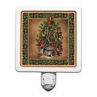 Christmas Tree Vintage style with a Nativity Scene Night Light