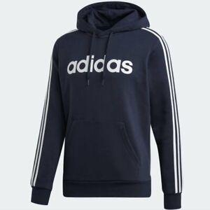 adidas Essentials 3-Stripe Pullover Fleece Hoodie DU0494 NWT